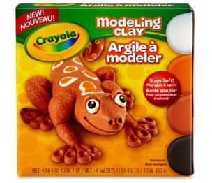 Crayola, LLC 570400 Modeling Clay, 4Oz., 4/Bx, Natural by Crayola