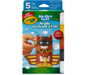 Crayola, LLC 572002 Air-Dry Clay, 2.5Oz., 5/Pk, Natural by Crayola
