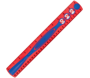 """Maped 278611 Kidy Grip Ruler, 12"""", Red/Blue by Helix"""