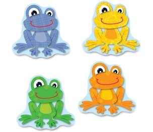 Carson-Dellosa Publishing Co., Inc 120123 Funky Frogs Cut-Outs, Prek-Gr-8, 36 Pcs, Multi by Carson-Dellosa