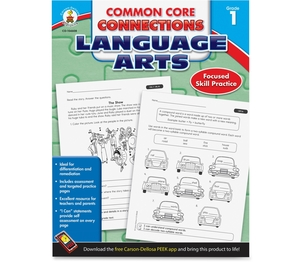 Carson-Dellosa Publishing Co., Inc 104608 Language Arts Workbook, Grade 1, 96Pgs, Multi by Carson-Dellosa