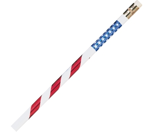 Moon Products 7856B Stars/Stripes Themed Pencils, No. 2, 12/Dz, Rdwe by Moon Products