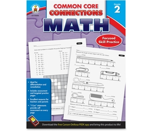 Carson-Dellosa Publishing Co., Inc 104603 Math Workbook, Grade 2, 96Pgs, Multi by Carson-Dellosa