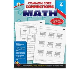 Carson-Dellosa Publishing Co., Inc 104605 Math Workbook, Grade 4, 96Pgs, Multi by Carson-Dellosa