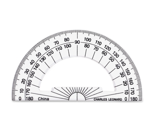 Charles Leonard, Inc 77104 Plastic Protractor, 4', Clear by CLI