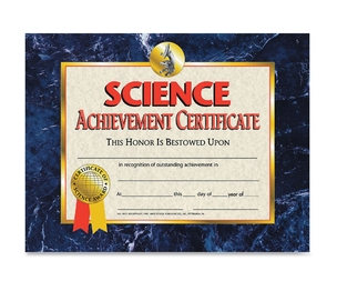 Flipside Products, Inc VA571 Science Achievement Certificate, 30/Pk, Ast by Flipside