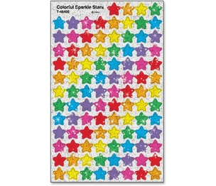 TREND ENTERPRISES, INC. 46405 Stickers, Colorful Stars, 400 Ea/Pk, Mi by Trend