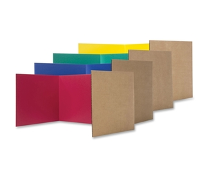 "Sparco Products 60045 Study Carrel Color Corrugated, 12""X48', 24/Pk, Ast by Flipside"