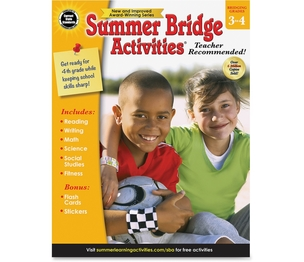 Carson-Dellosa Publishing Co., Inc 704699 Summer Bridge Activities Workbook, Gr3-4, 160 Pgs, Multi by Summer Bridge