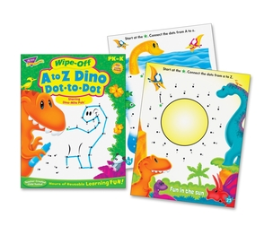 """TREND ENTERPRISES, INC. 94161 Book, Wipe-Off, A To Z Dino, 8-1/2""""Wx11""""H, Mi by Trend"""