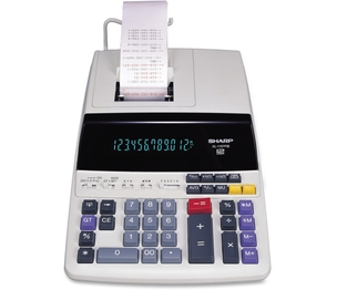 "Sharp Electronics EL1197PIII 12-Digit Calculator,2-Color Printing,8-1/2""x10-1/2""x2-3/4,WE by Sharp"