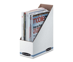 "Fellowes, Inc 00723 Standard Magazine Storage File,3-7/8""x9-1/4""x11-3/4"",WE/BE by Bankers Box"