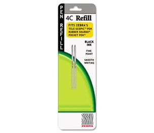 ZEBRA PEN CORPORATION 85612 Refill for StylusPen Twist and 4C Pocket Pens, Fine, Black Ink, 2/Pack by ZEBRA PEN CORP.