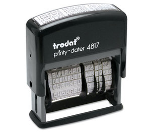 U.S. Stamp & Sign 5003 Trodat Economy 12-Message Stamp, Dater, Self-Inking, 2 x 3/8, Black by U. S. STAMP & SIGN