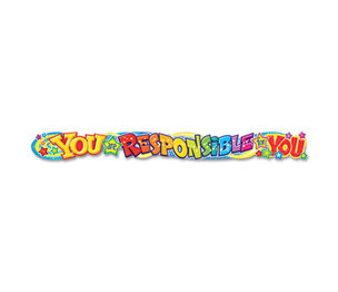 TREND ENTERPRISES, INC. T25047 Quotable Expressions Wall Banner, You Are Responsible For You, 10 ft by TREND ENTERPRISES, INC.