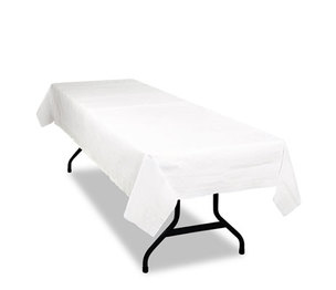 Table Set Poly Tissue Table Cover, 54 x 108, White, 6/Pack by TABLEMATE PRODUCTS, CO.