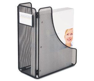 Safco Products 3270BL Mesh Magazine File, Black, 5 1/4 x 10 x 12 1/4 by SAFCO PRODUCTS