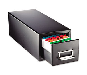 MMF INDUSTRIES 263F3516SBLA Drawer Card Cabinet Holds 1,500 3 x 5 cards, 7 3/4 x 18 1/8 x 7 by MMF INDUSTRIES