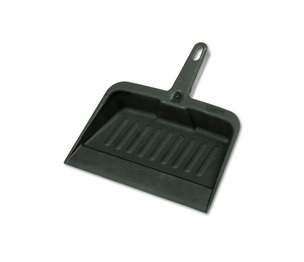 "RUBBERMAID COMMERCIAL PROD. 200500 Heavy-Duty Dustpan, 8 1/4"" w, Polypropylene, Charcoal by RUBBERMAID COMMERCIAL PROD."
