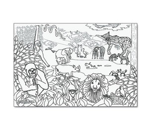 "PACON CORPORATION 0078930 Learning Walls Paper, African Safari, 72"" x 48"" by PACON CORPORATION"