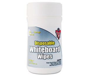 FALCON SAFETY PRODUCTS, INC DWBT Disposable White Board Wipes, 6 x 6 1/2, White, 80/Canister by FALCON SAFETY