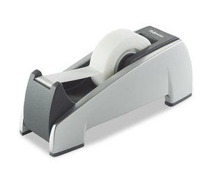 "Fellowes, Inc 8032701 Office Suites Desktop Tape Dispenser, 1"" Core, Plastic, Heavy Base, Black/Silver by FELLOWES MFG. CO."