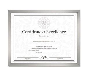 DAX MANUFACTURING INC. N17002N Value U-Channel Document Frame w/Certificates, 8 1/2 x 11, Silver by DAX MANUFACTURING INC.