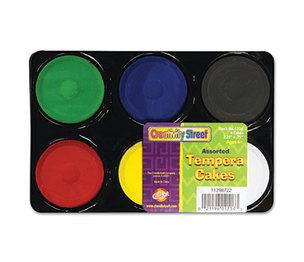 The Chenille Kraft Company 9833 Tempera Cakes, 6 Assorted Colors, 6/Pack by THE CHENILLE KRAFT COMPANY