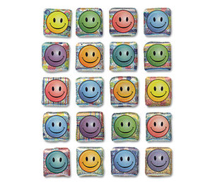 The Chenille Kraft Company 1648 Creativity Street Peel and Stick Gemstone Stickers, Smiley Face, 20/Pack by THE CHENILLE KRAFT COMPANY