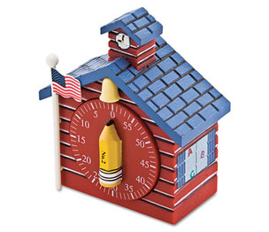 BAUMGARTENS 77062 Shaped Timer, 3/4 x 2 x 3 1/2, Red School House by BAUMGARTENS