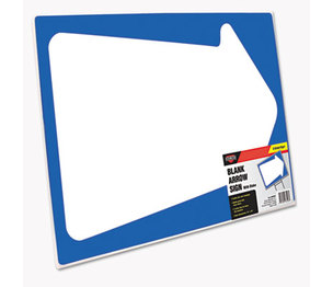 Consolidated Stamp Manufacturing Company 098226 Stake Sign, Blank White with Printed Blue Arrow, 15 x 19 by CONSOLIDATED STAMP