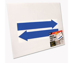 Consolidated Stamp Manufacturing Company 098055 Stake Sign, Blank White, Includes Directional Arrows,  15 x 19 by CONSOLIDATED STAMP