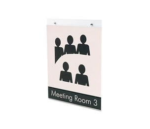 Deflecto Corporation 68201 Classic Image Single-Sided Wall Sign Holder, Plastic, 8 1/2 x 11, Clear by DEFLECTO CORPORATION