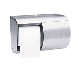 Kimberly-Clark Corporation 09606 Coreless Double Roll Tissue Dispenser, 7 1/10 x 10 1/10 x 6 2/5, Stainless Steel by KIMBERLY CLARK