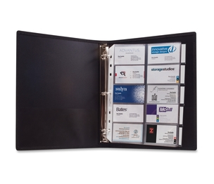 "ACCO Brands Corporation 303 3-Ring Business Card Binder, 100 Card Cap, 8-1/2""x11"", Black by Anglers"