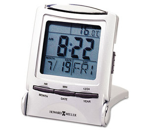 """Howard Miller 645-358 Distant Time Traveler Alarm Clock, 2-1/4"""", Silver, 1 AAA (incl) by HOWARD MILLER CLOCK CO."""