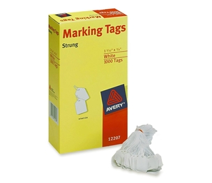 "Avery 12207 Marking Tags, 1-3/32""x3/4"", 1000/BX, White by Avery"