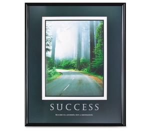 "Advantus Corporation 78004 Success Poster, 24""x30"", Black Frame by Advantus"