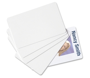 "BAUMGARTENS 80300 Blank ID Cards, CR80 Size, 30 mil,2-1/8""x3-3/8"", 100/PK, WE by Baumgartens"
