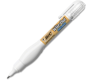 BIC WOSQP11-WHI Correction Pen, Fast Drying, Needlepoint Tip, 8ml, WE by Wite-Out