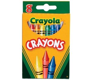 "Crayola, LLC 52-0008 Regular Crayons, 3-5/8""x5/16"", 8/PK, Assorted by Crayola"