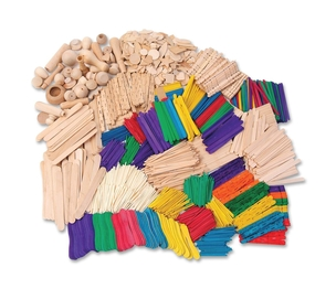 The Chenille Kraft Company 1718 Wood Crafts Classroom Activities Kit, 2100 Pieces by ChenilleKraft