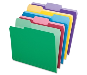 Tops Products 84370 Folder, Erasable Tab, Letter, 1/3 Tab Cut, 30/PK, Assorted by Pendaflex