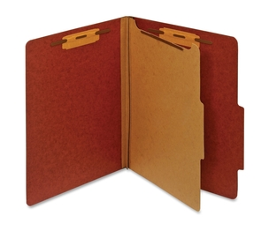 Tops Products PU41 RED Classification Folder, 1 Partition, Letter, Red by Globe-Weis