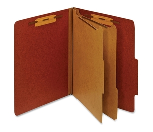 Classification Folder, 2 Partitions, Letter, Red by Globe-Weis