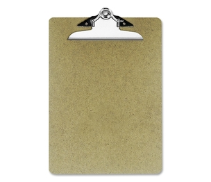 "OFFICEMATE INTERNATIONAL CORP. 83100 Hardboard Clipboard, 1"" Paper Capacity, 9""x12-1/2"", Brown by OIC"