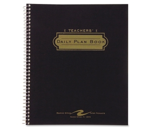 "Roaring Spring Paper Products 12144 Teacher Planner,40-Week,Double Pocket,11""x8-1/2"",Assorted by Roaring Spring"