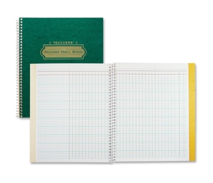 "Roaring Spring Paper Products 72900 Class Roll Book,11""x8-1/2"", Wirebound,Manila Double Pocket by Roaring Spring"
