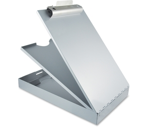 """Saunders Mfg. Co. Inc 21017 Storage Clipboard, Pencil Tray, 8-1/2""""x12"""", Aluminum by Saunders"""
