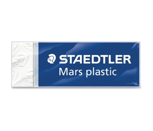 "Staedtler Mars GmbH & Co. 526 50 Plastic Eraser, Latex-free, w/Sleeve, 2-1/2""x7/8""x1/2"", WE by Staedtler"